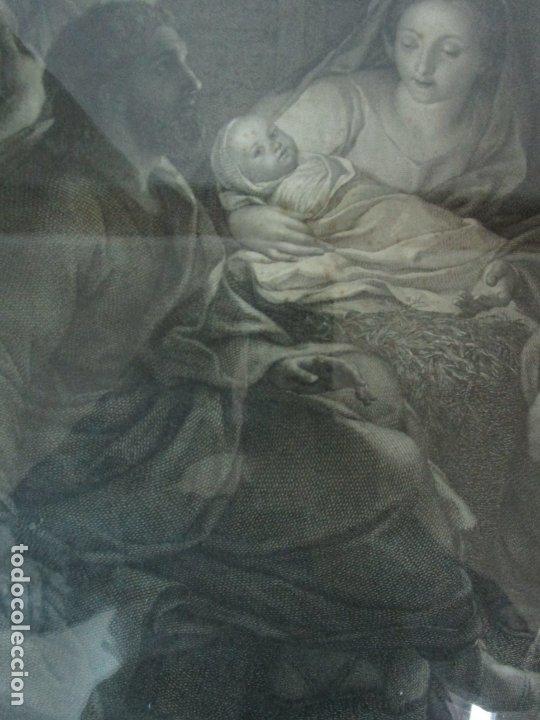 Arte: Grabado La Adoración de los Pastores - Rafael Mengs - Morghen Raffaello Grabador - Año 1791 - Foto 6 - 181774640