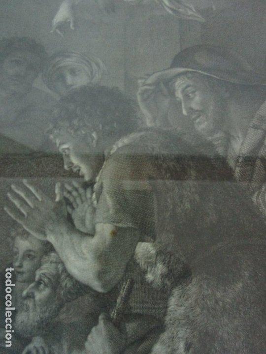 Arte: Grabado La Adoración de los Pastores - Rafael Mengs - Morghen Raffaello Grabador - Año 1791 - Foto 7 - 181774640