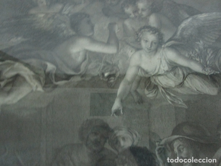 Arte: Grabado La Adoración de los Pastores - Rafael Mengs - Morghen Raffaello Grabador - Año 1791 - Foto 8 - 181774640
