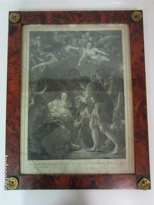 Arte: Grabado La Adoración de los Pastores - Rafael Mengs - Morghen Raffaello Grabador - Año 1791 - Foto 9 - 181774640