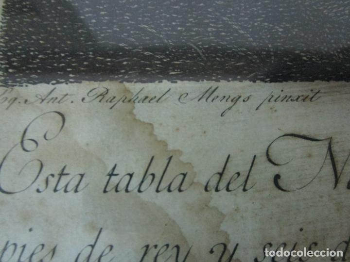 Arte: Grabado La Adoración de los Pastores - Rafael Mengs - Morghen Raffaello Grabador - Año 1791 - Foto 10 - 181774640