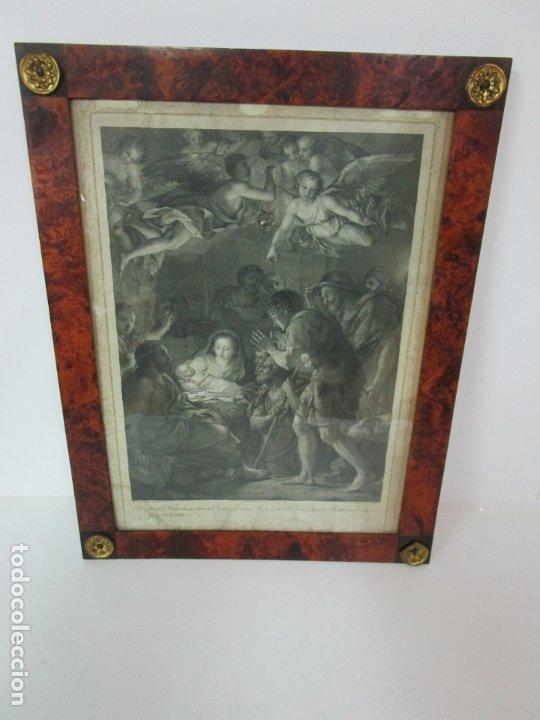 Arte: Grabado La Adoración de los Pastores - Rafael Mengs - Morghen Raffaello Grabador - Año 1791 - Foto 15 - 181774640
