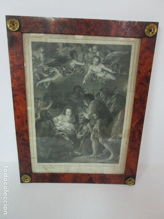 GRABADO LA ADORACIÓN DE LOS PASTORES - RAFAEL MENGS - MORGHEN RAFFAELLO GRABADOR - AÑO 1791 (Arte - Grabados - Antiguos hasta el siglo XVIII)