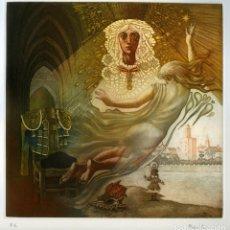 Arte: CELEDONIO PERELLÓN. GRABADO ORIGINAL. A LAS 5 DE LA TARDE I. Lote 181791808