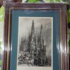 Arte: REPRODUCCION GRABADOS DE DAVID ROBERTS. CATEDRAL DE BURGOS. BIEN ENMARCADO. NUEVO.. Lote 181976403