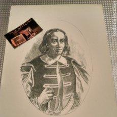 Arte: GRAVADO LAMINA PEDRO ANTONIO VECINA 1690 VALLS TARRAGONA COMANDANTE ESCUADRAS. Lote 182033657