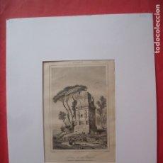 Arte: SEPULCRO DE LOS ESCIPIONES.-GRABADO.-GRABADO AL ACERO.-GAUCHEREL.-LEMAITRE.-SIGLO XIX.. Lote 182078483