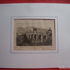Arte: PUENTE DE ALCANTARA.-GRABADO.-GRABADO AL ACERO.-GAUCHEREL.-LEMAITRE.-SIGLO XIX.. Lote 182079601