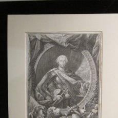 Arte: AGUAFUERTE, RETRATO DE CARLOS III - FILIPPO MORGHEN. Lote 182203750