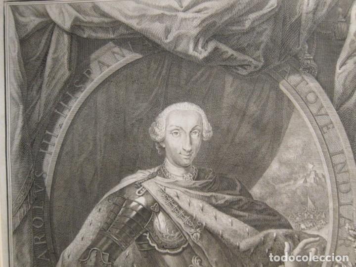 Arte: Aguafuerte, Retrato de Carlos III - Filippo Morghen - Foto 2 - 182203750