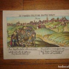 Arte: GRABADO JEREZ DE LA FRONTERA, CADIZ, ORIGINAL,1630, MEISNER, RARÍSIMO, ESPLÉNDIDO ESTADO Y COLOREADO. Lote 182207970