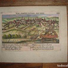 Arte: ESPLÉNDIDO GRABADO VALLADOLID,CASTILLA, ORIGINAL, FRANKFURT, 1630, MEISNER/KIESER, COLOREADO A MANO. Lote 182208601