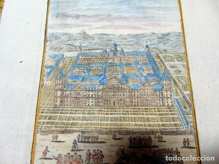 Arte: GRABADO ORIGINAL , MADRID EL ESCORIAL 1719, MANESSON MALLET, EXCELENTE ESTADO - Foto 2 - 182257011