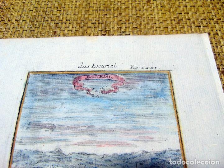 Arte: GRABADO ORIGINAL , MADRID EL ESCORIAL 1719, MANESSON MALLET, EXCELENTE ESTADO - Foto 3 - 182257011