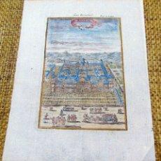 Arte: GRABADO ORIGINAL , MADRID EL ESCORIAL 1719, MANESSON MALLET, EXCELENTE ESTADO. Lote 182257011