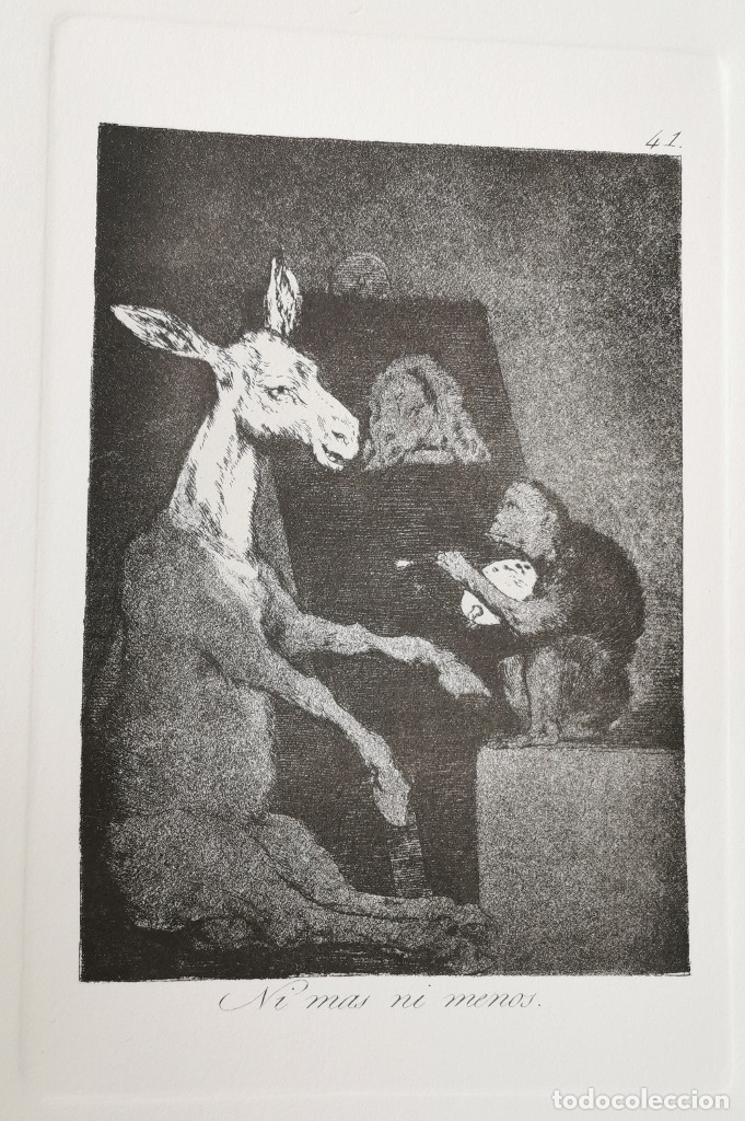 Goya,los caprichos n.41 ni mas ni menos,aguafue - Vendido ...