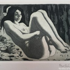 Arte: CELEDONIO PERELLON, PRECIOSO GRABADO DESNUDO FEMENINO, FIRMADO.. Lote 182356496