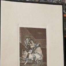 Arte: GOYA,LOS CAPRICHOS N.35 LE DESCAÑONA,AGUAFUERTE ORIGINAL DIRECTO DE PLANCHA CON CERTIFICADO. Lote 182356533
