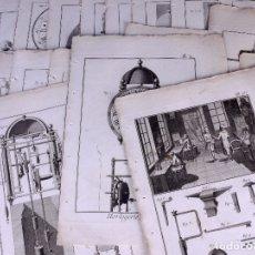 Arte: HORLOGERIE, 28 GRABADOS. ENCICLOPEDIA DIDEROT 1783. Lote 182365093