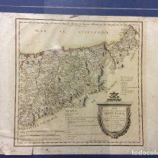 Arte: MAPA DE GUIPUZCOA POR EL GEÓGRAFO D.TOMÁS LÓPEZ-AÑO 1770. Lote 182416622
