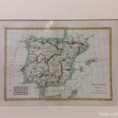 Arte: ANTIGUO MAPA HISPANIA VETUS-BONNE PRIMARIO HYDROGRAPHO NAVALI -MEDIDA 42X30CM. Lote 182416897