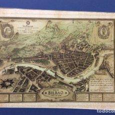 Arte: MAPA ANTIGUO DE LA RIA DE BILBAO-LA POLAR 1948-MEDIDAS 77X54CM. Lote 220569267