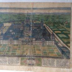 Arte: ANTIGUO GRABADO SIGLO XVI-SCENOGRAPHIA DEL ESCORIAL 1590-ABRAHAM ORTELIUS . Lote 182418347