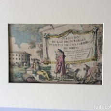 Arte: COLECCIÓN DE LAS PRINCIPALES SUERTES DE UNA CORRIDA DE TOROS.A. CARNICERO 1790(12 GRABADOS +PORTADA). Lote 182496352