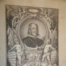 Arte: GRABADO-RETRATO REY FELIPE IV-1660-MADRID-PEDRO VILLAFRANCA MALAGÓN-ORDEN CALATRAVA-VELÁZQUEZ-S XVII. Lote 182404790