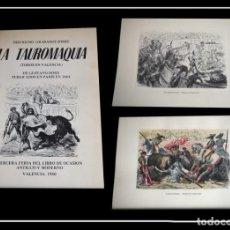 Arte: 18 GRABADOS SOBRE LA TAUROMAQUIA DE GUSTAVO DORÉ . EDICIÓN FACSÍMIL DE BLAZQUEZ - LIBROS 1980. Lote 182514103