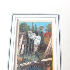 Arte: GRABADO SOBRE PROFESIONES EN 1820. ASERRADOR. ORIGINAL. Lote 182569975