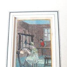 Arte: GRABADO SOBRE PROFESIONES EN 1820. PIN MARKER. ORIGINAL. Lote 182570258