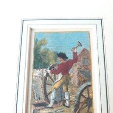 Arte: GRABADO SOBRE PROFESIONES EN 1820. CARRETERO. ORIGINAL. Lote 182570505