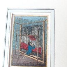 Arte: GRABADO SOBRE PROFESIONES EN 1820. TEJEDOR DE ALFOMBRAS. ORIGINAL. Lote 182570656