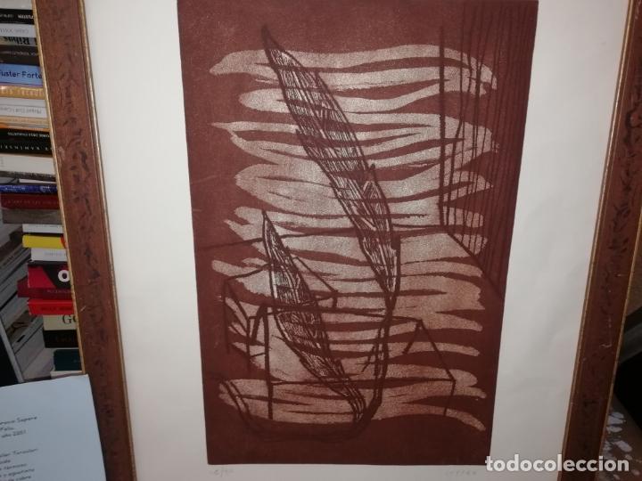 Arte: GRABADO ORIGINAL DE HORACIO SAPERE CON TÉCNICAS DE AGUAFUERTE Y AGUATINTA . 50 X 33 CM. MALLORCA - Foto 2 - 182647735