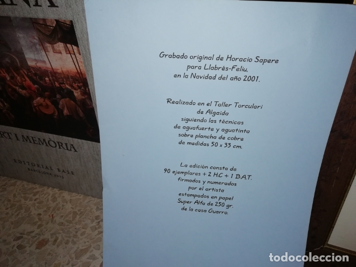 Arte: GRABADO ORIGINAL DE HORACIO SAPERE CON TÉCNICAS DE AGUAFUERTE Y AGUATINTA . 50 X 33 CM. MALLORCA - Foto 5 - 182647735