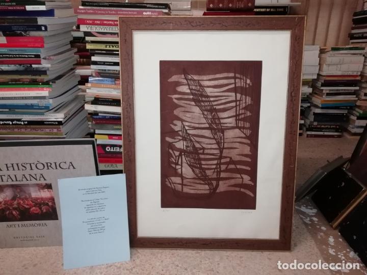 GRABADO ORIGINAL DE HORACIO SAPERE CON TÉCNICAS DE AGUAFUERTE Y AGUATINTA . 50 X 33 CM. MALLORCA (Arte - Grabados - Contemporáneos siglo XX)