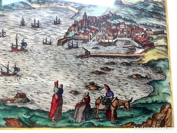 Arte: GRABADO SANTANDER en el SIGLO XVI - 1575 - ILUMINADO - Joris Hoefnagel ; Franz Hogenberg - ORIGINAL - Foto 3 - 182701908