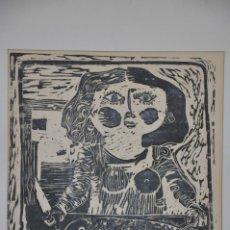 Arte: GRABADO LINÓLEO PESCADERA FIRMADO POR VICENTE ARNÁS. Lote 182746878
