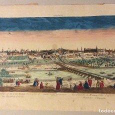 Arte: GRABADO ,VISTA DE MADRID DEL SIGLO XVIII-AÑO 1760. Lote 182793315