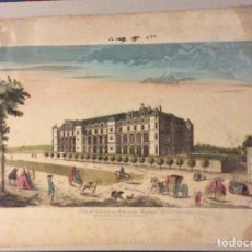 Arte: GRABADO 1780-PALACIO REAL MADRID-VUE DU CHATEAU ROYAL DE MADRID. . Lote 182793945