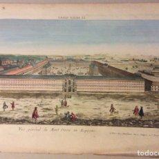 Arte: GRABADO ANTIGUO MONTSERRAT- VUE GÉNÉRAL DU MONT SERRA EN ESPAGNE. Lote 182795562