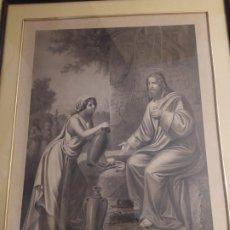 Arte: MAGISTRAL GRABADO O AGUAFUERTE ,ESCENA BÍBLICA XIX . Lote 182809135