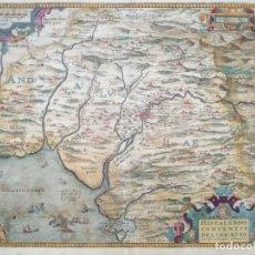 Arte: 1589 MAPA ANDALUCÍA HISPALENSIS CONVENTUS DELINEATIO. (THEATRUM ORBIS TERRARUM, A. ORTELIUS). Lote 182851463