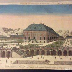 Arte: GRABADO PALACIO DE LA ZARZUELA».SIGLO XVIII ORIGINAL ANTIQUE HAND-COLORED ENGRAVING. FRENCH SCHOOL . Lote 182861840