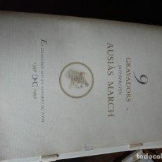 Arte: CARPETA DE NUEVE GRABADOS Y POEMAS DE AUSIAS MARCH. Lote 182955220