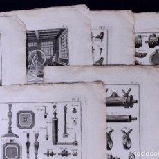 Arte: ETAIN, 8 GRABADOS. ENCICLOPEDIA DIDEROT 1783. Lote 183008531