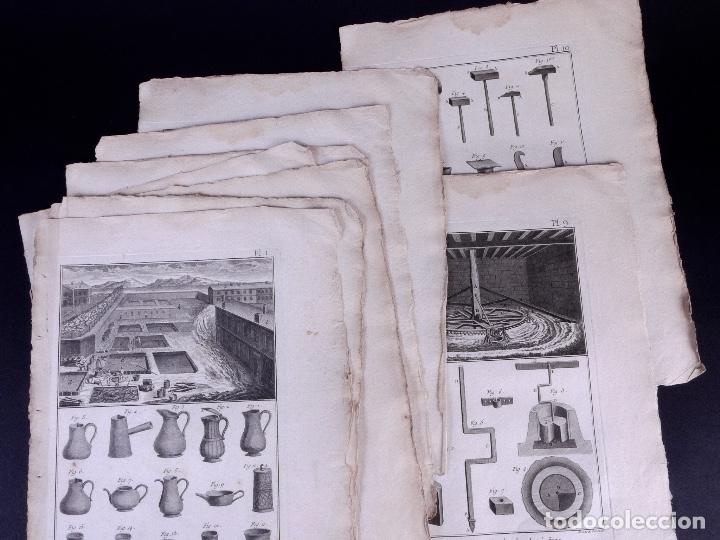 FAYENCERIE, 10 GRABADOS. ENCICLOPEDIA DIDEROT 1783 (Arte - Grabados - Antiguos hasta el siglo XVIII)