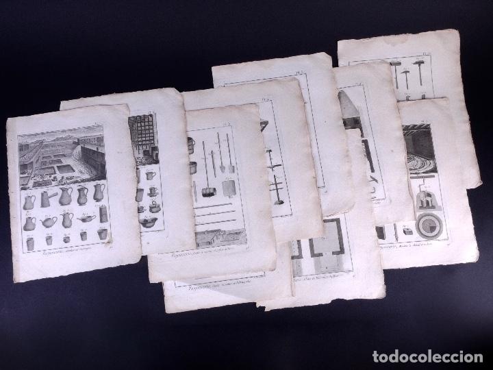 Arte: FAYENCERIE, 10 GRABADOS. ENCICLOPEDIA DIDEROT 1783 - Foto 2 - 183008770