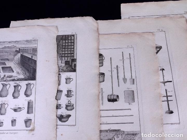 Arte: FAYENCERIE, 10 GRABADOS. ENCICLOPEDIA DIDEROT 1783 - Foto 3 - 183008770